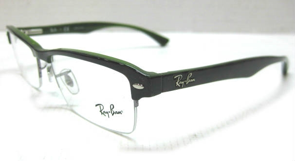 Plastic Frame Glasses Crooked : Ray Ban RB7014 Mens Brown/Green Designer Eyeglass Frames ...