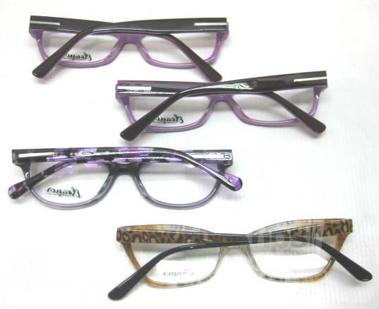 Plastic Frame Glasses Crooked : Lot of 4 Eleanor Jasmine, Isabelle, Rigby Womens Purple ...
