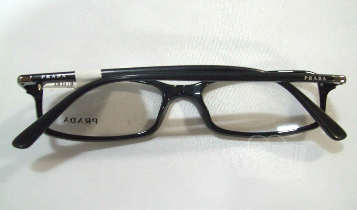 Black Designer Eyeglass Frames : Prada PR 17GV Mens Black Designer Eyeglass Frames eBay