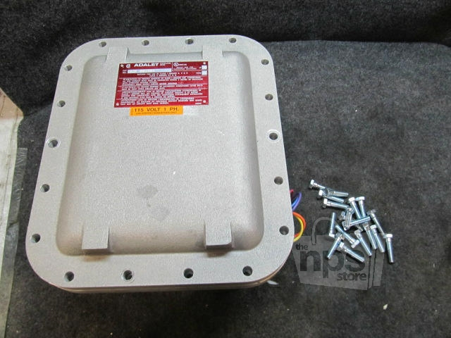 Adalet xjf 081006 explosion proof enclosure with motor for Explosion proof motor starter
