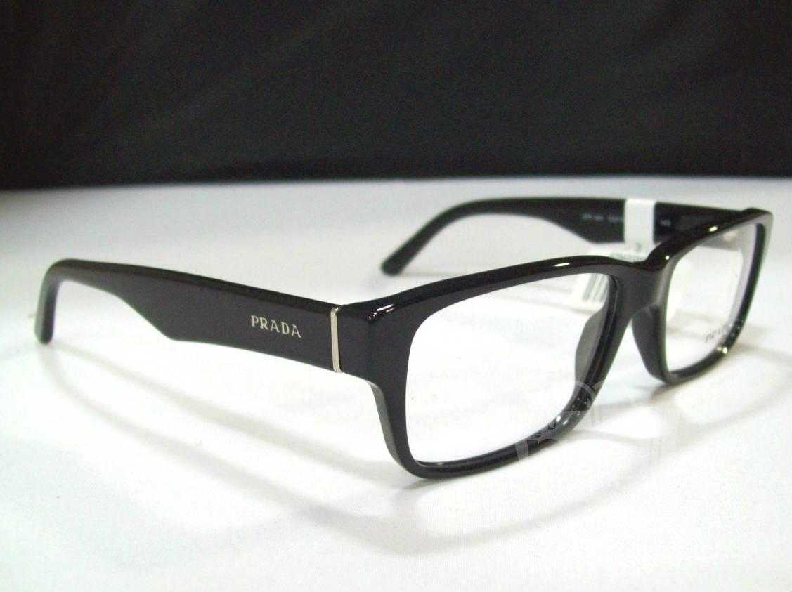 Black Designer Eyeglass Frames : Prada PR 16MV Mens Black Designer Eyeglass Frames eBay