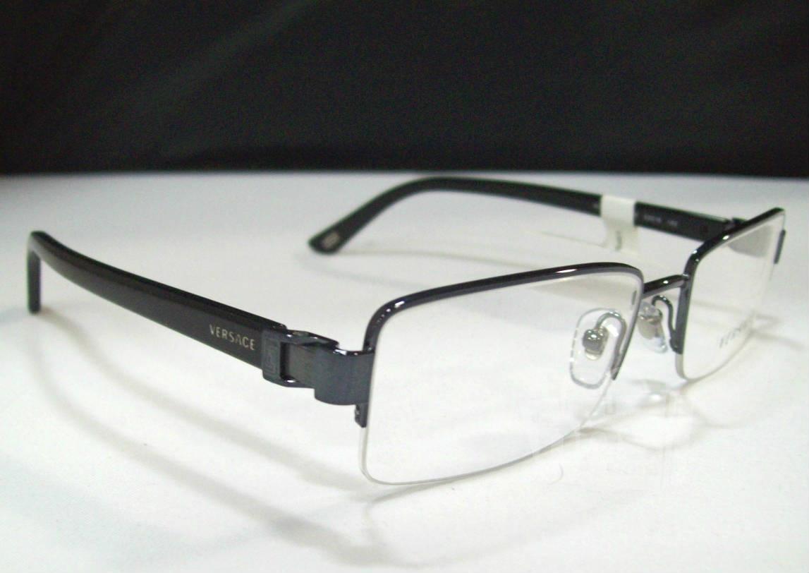 Black Designer Eyeglass Frames : Versace VE1183 Mens Black Designer Eyeglass Frames eBay