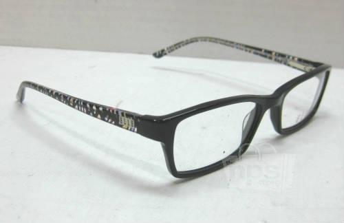 Plastic Frame Glasses Crooked : Lot of 2 Elle EL13339, EL13328 Womens Brown Black ...