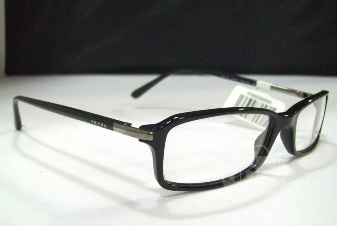 prada pr 17gv s black designer eyeglass frames ebay