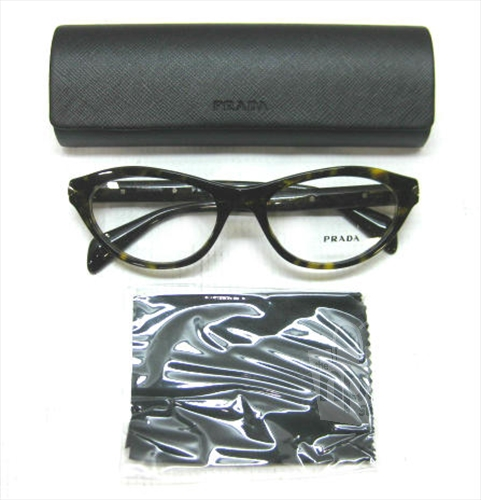 PRADA VPR18P Womens Cat Eye Tortoise Designer Eyeglass ...