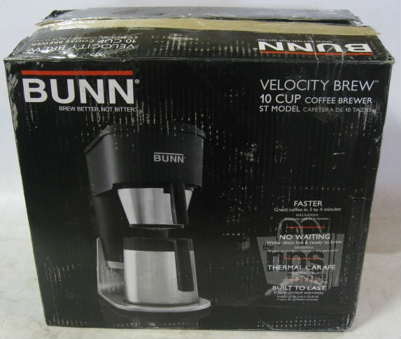 Bunn Coffee Maker 10 Cup Instructions : Bunn ST 10 Cup Stainless Steel Water Tank Velocity Brew Coffee Maker eBay