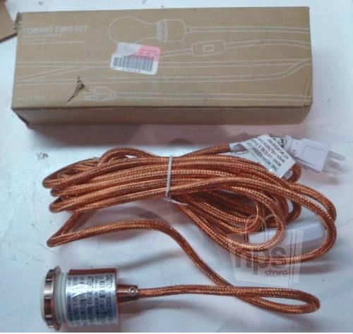 West Elm Plug In Polished Copper Finish Metallic Pendant