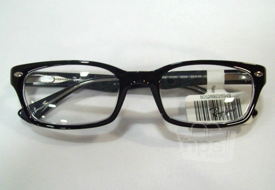 Black Designer Eyeglass Frames : Ray Ban RX 5150 Mens Black Designer Eyeglass Frames eBay