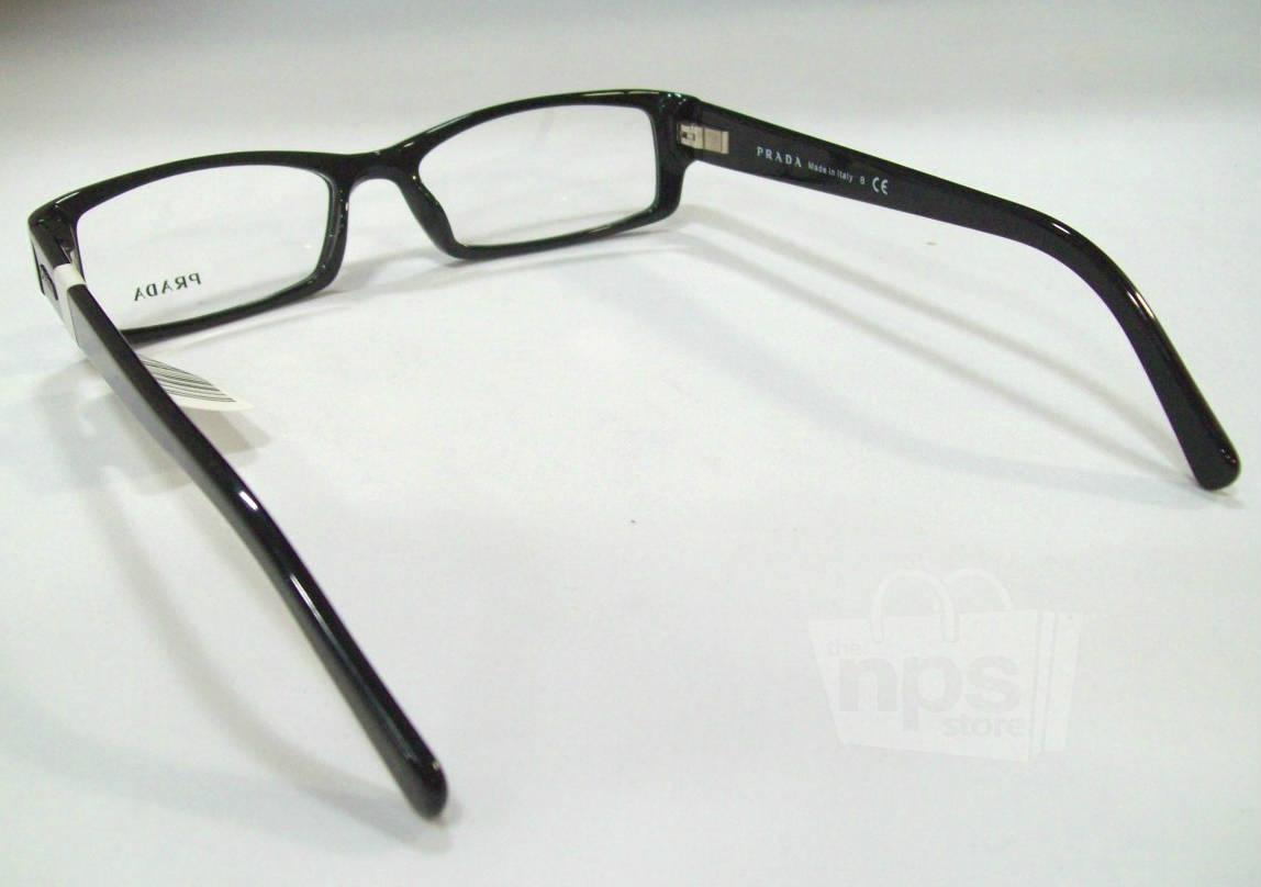 Black Designer Eyeglass Frames : Prada PR 19LV Mens Black Designer Eyeglass Frames eBay