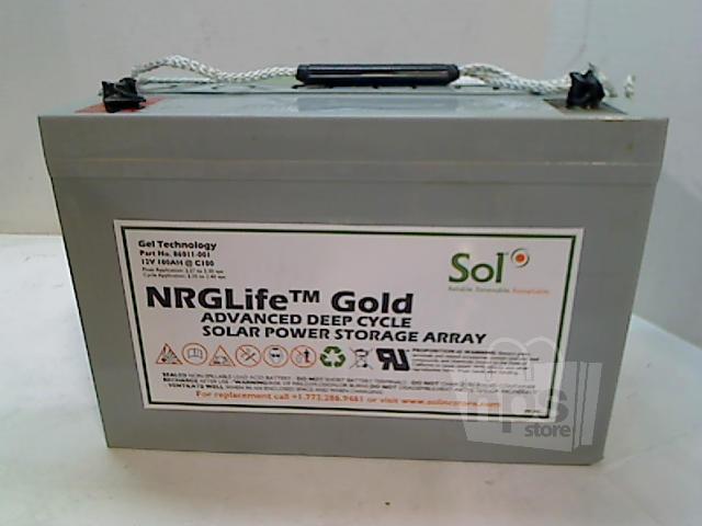 sol 86011 001 nrglife gold gel cell battery solar power storage 12volt 100 ah ebay. Black Bedroom Furniture Sets. Home Design Ideas