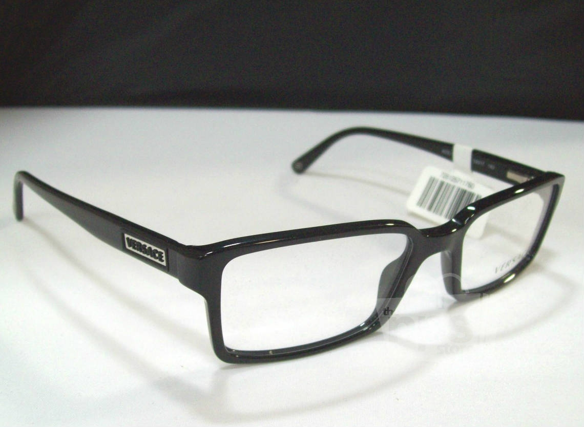 Unique Mens Eyeglass Frames : Versace VE3142 Mens Black Designer Eyeglass Frames eBay