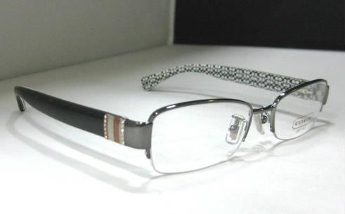 White Designer Eyeglass Frames : COACH Cecily Dark Silver Black White Womens Designer ...
