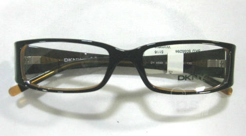DKNY DY4599 Black Orange Womens Designer Eyeglass Frames ...