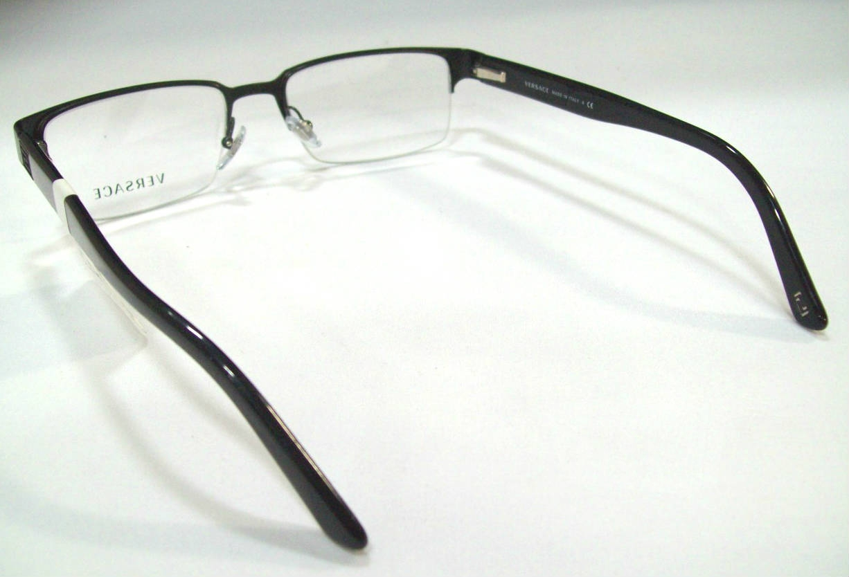 Versace VE1184 Mens Black Designer Eyeglasses eBay
