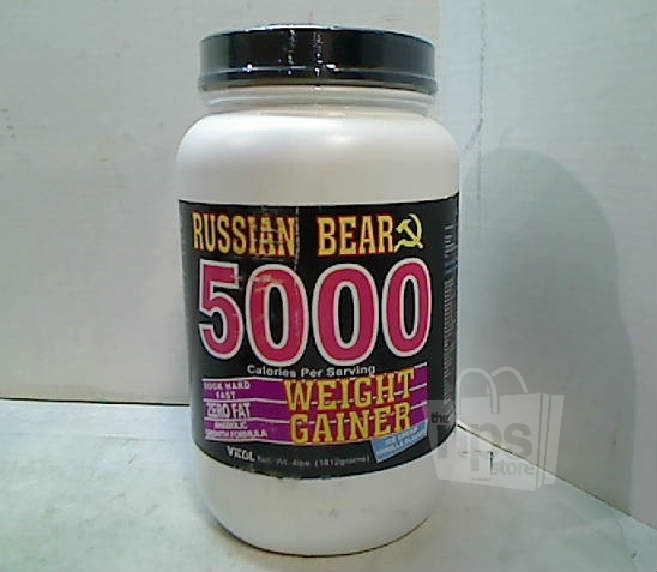Vitol russian bear 5000 calorie weight gainer 4lb vanilla protein