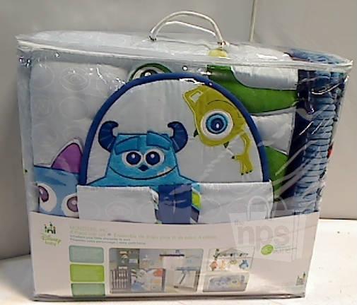 4 Piece Disney Baby 25953 Monsters Inc Crib Bedding Set