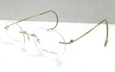 Giorgio Armani AR5004RT Mens Gold Rimless Designer ...