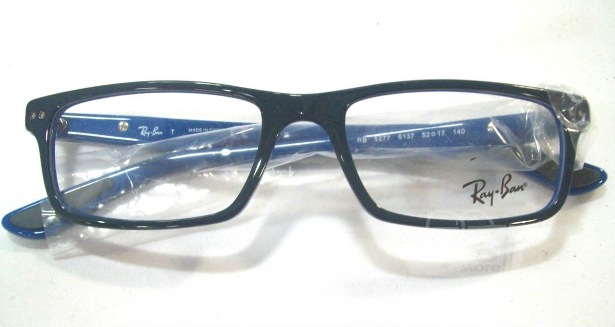 Blue Designer Eyeglass Frames : Ray Ban RB 5277 5137 Mens Blue Designer Eyeglass Frames ...