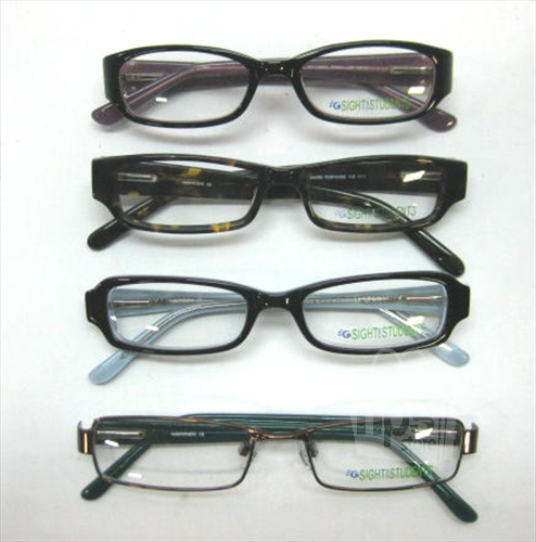 Plastic Frame Glasses Crooked : Lot of 4 Sight For Students SFS5004 SFS4000 Kids Youth ...