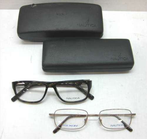 Lot of 2 NAUTICA N8045, N2014 Men\'s Tortoise Copper Eyeglass Frames ...