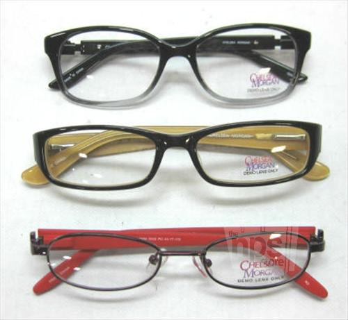 Plastic Frame Glasses Crooked : Lot of 3 Chelsea Morgan CM3007, CM837, CMM0003 Womens ...