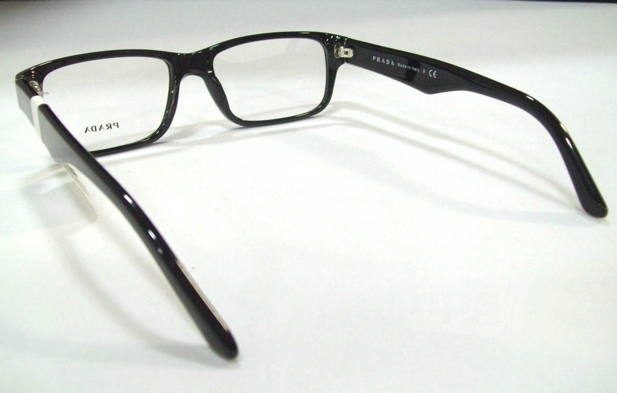 Prada PR 16MV Mens Black Designer Eyeglass Frames eBay