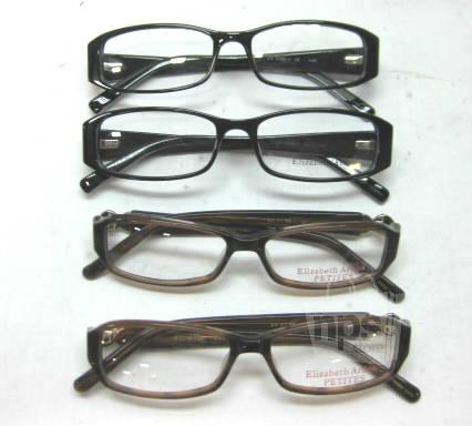 Plastic Frame Glasses Crooked : Lot of 4 Elizabeth Arden EA1056 EAPT69 Womens Designer ...