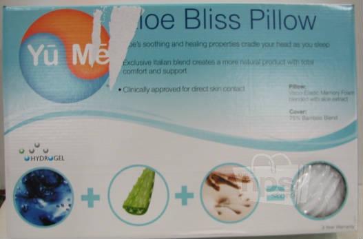 Yume Aloe Bliss Pillow White 18 X 29 5 In New Ebay