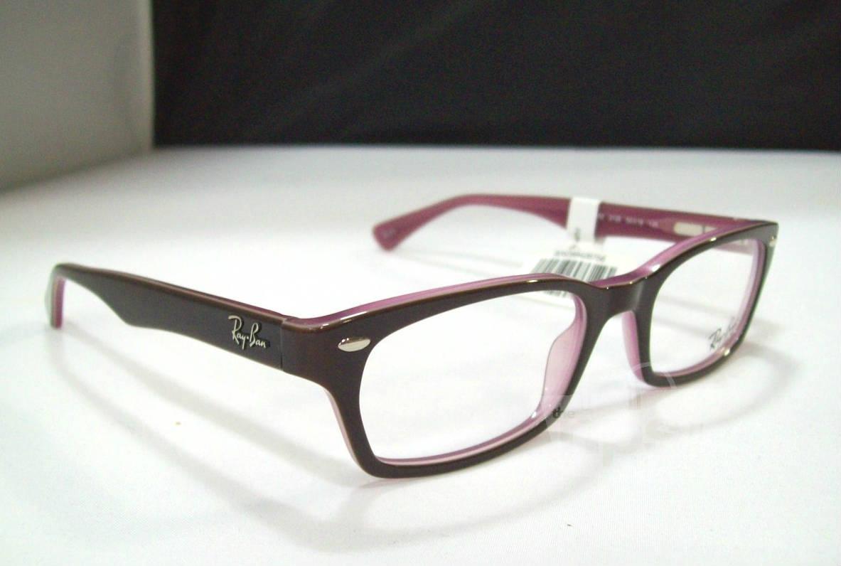 Designer Eyeglass Frames Only : Ray Ban RX 5150 Womens Brown Pink Designer Eyeglass ...