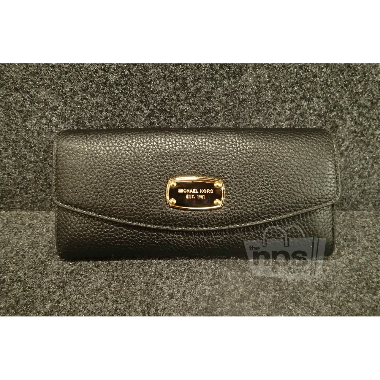 934942cf5b5f Black Pebbled Leather Wallet Michael Kors | Stanford Center for ...
