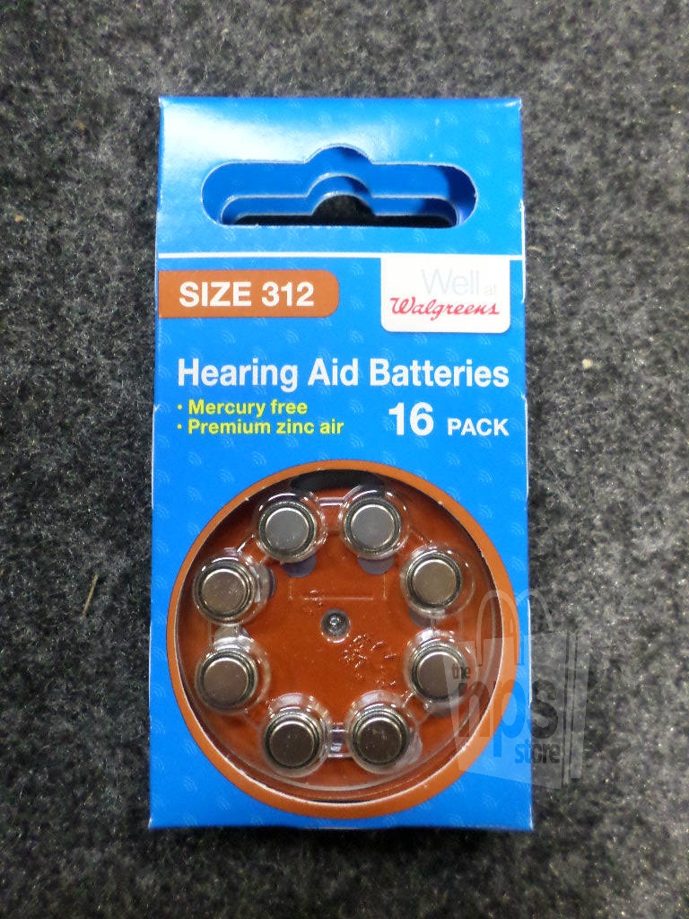 Lot of 5 walgreens 463770 16ct 312 hearing aid batteries 1 for Chambre a air 312 x 52 250